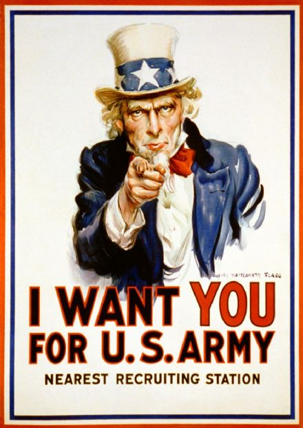 Uncle Sam I Want You for U.S. Army. Art Print/Poster (5173)